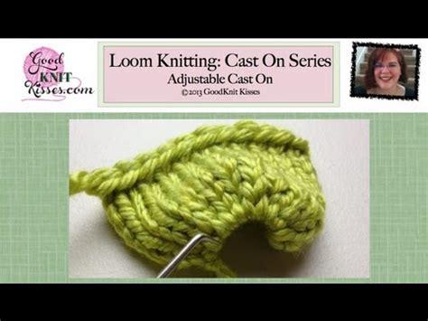 cast loom knitting loom knit cast on adjustable cast on wacky loom bands