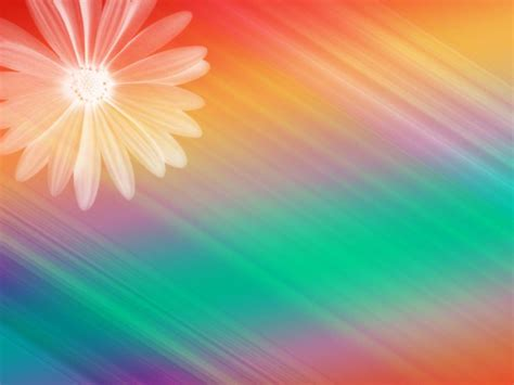 free colorful powerpoint templates free floral design rainbow colorful ppt