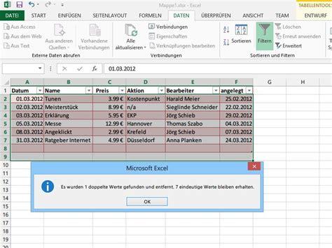 excel zellen layout doppelte tabellen zeilen in excel 2007 2010 2013 leichter