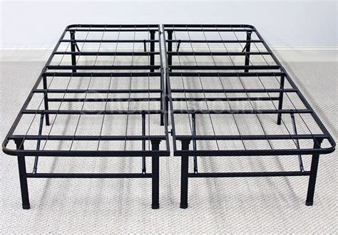 Metal Platform Bed Frame Mattress Foundation Base Folding Platform Metal Bed Frame Mattress Foundation