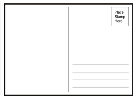 Postcard Template Word