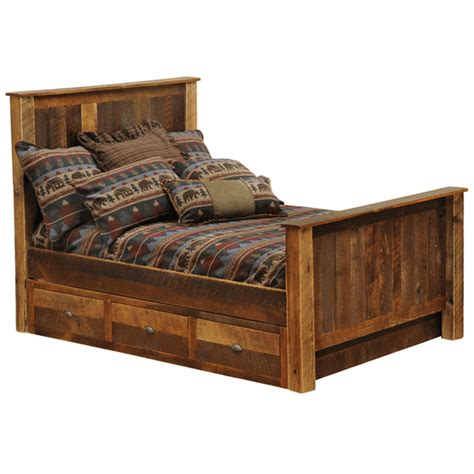 Bed With Dresser Underneath by Rustic Beds Size Barnwood Traditional Bed With