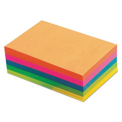 color memo fluorescent color memo sheets 4 x 6 unruled assorted