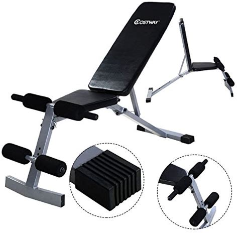 incline crunch bench goplus incline sit up bench foldable slant board ab crunch