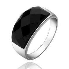 Cincin Batu Hexagon Hexagon Ring Black cincin perak wanita samabi merupakan cincin wanita