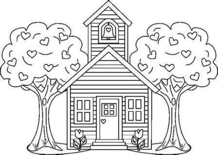 no school coloring page desenhos de casa na 193 rvore para colorir desenhos para