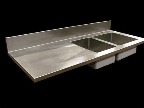 Stainless Steel Sink And Countertop by Stainless Steel Countertops Seams Finishes Edges