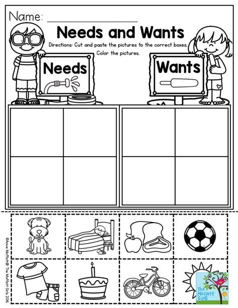 Kindergarten Activities Needs And Wants | needs and wants parents will love you for this one