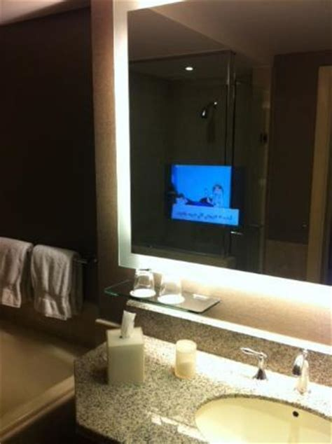 Television In Mirror For Bathroom Tv In Bathroom Mirror My Cool Picture Of Four Seasons Hotel Riyadh At Kingdom Centre
