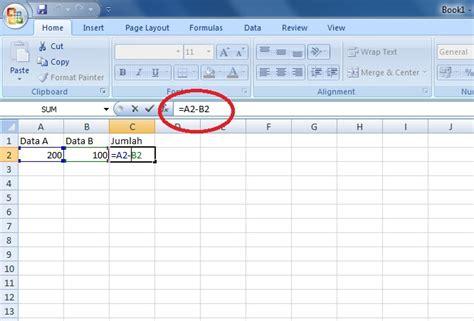cara membuat neraca di ms excel cara membuat formula pengurangan di excel panduan