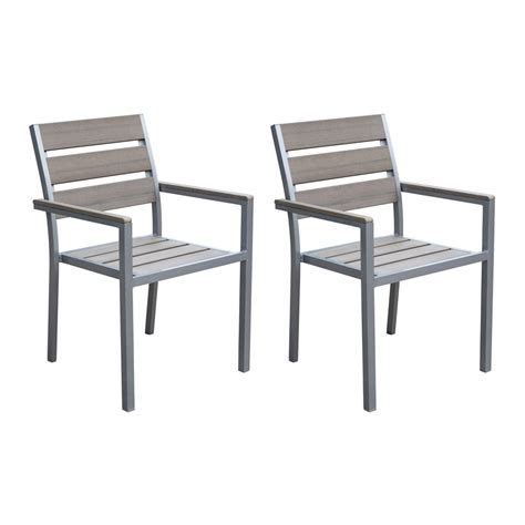 Outdoor Dining Chair Corliving Pjr 57 Gallant Outdoor Dining Chairs Lowe S Canada