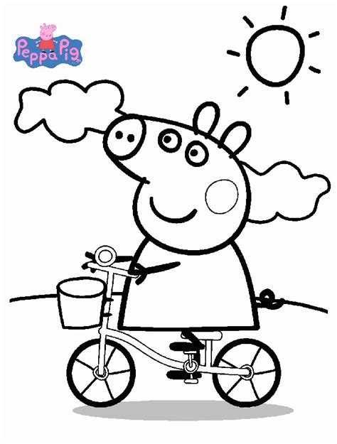 coloring pages peppa pig peppa pig coloring pages coloringpagesabc
