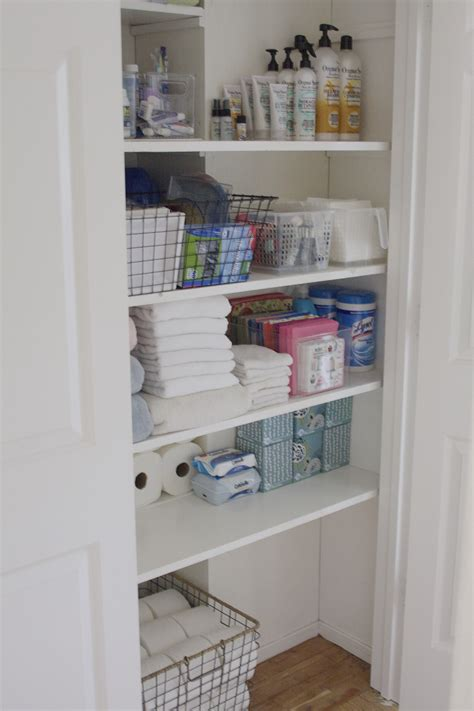 Bathroom Sink Ideas by Organized Bathroom Closet Simply Organized