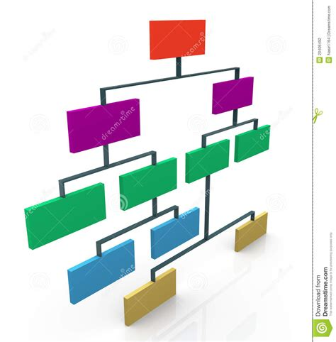 design art org 3d organizational chart stock illustration illustration