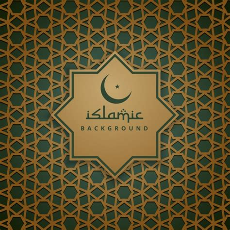 Hd Wedding Background Islam by Golden And Green Islamic Background Vector Free