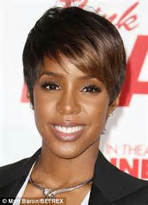 pixie cut weave or long weave pregnant kelly rowland trades in her pixie cut for long
