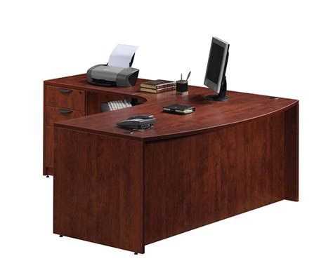 4pc L Shape Modern Contemporary Executive Office Desk Set Modern Executive Desk Sets