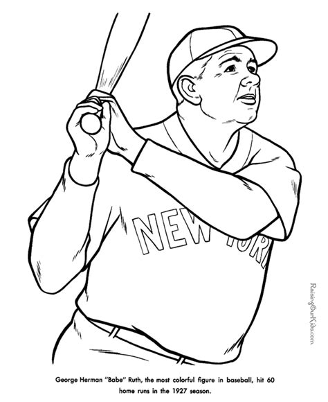 Coloring Page Baseball by Free Printable Baseball Coloring Sheets Printables