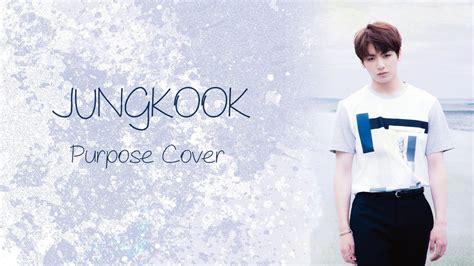 jungkook 2u cover lyrics video youtube jungkook bts purpose cover lyrics youtube