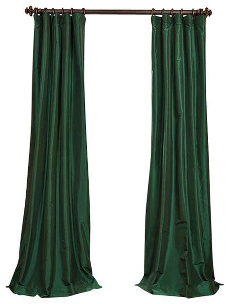 green taffeta curtains emerald green faux silk taffeta curtain traditional