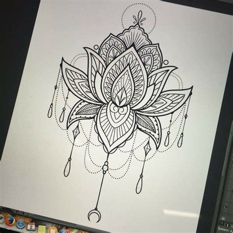 henna tattoo zwart mandala lotus awesome tattoos ideas