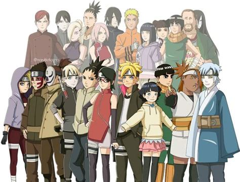 boruto cast can the characters in boruto match those in naruto