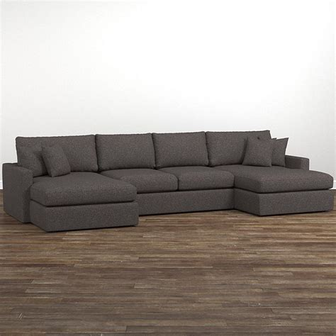 sectional with two chaises allure double chaise sectional