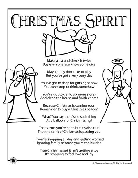 printable christmasreligious scenes to add your own poems to and print spirit poem woo jr activities