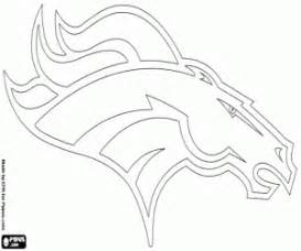 denver broncos coloring pages nfl logos coloring pages printable