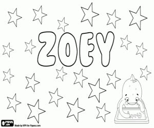 Girl Names With Z Coloring Pages Printable Games Zoey 101 Coloring Pages