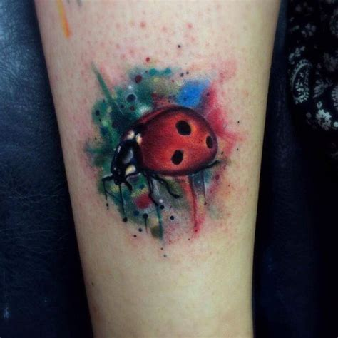watercolor tattoos ladybug 28 awesome colored ladybug tattoos