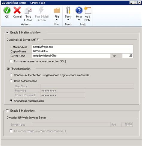 workflow mailer not sending emails gp workflow not sending emails microsoft dynamics gp