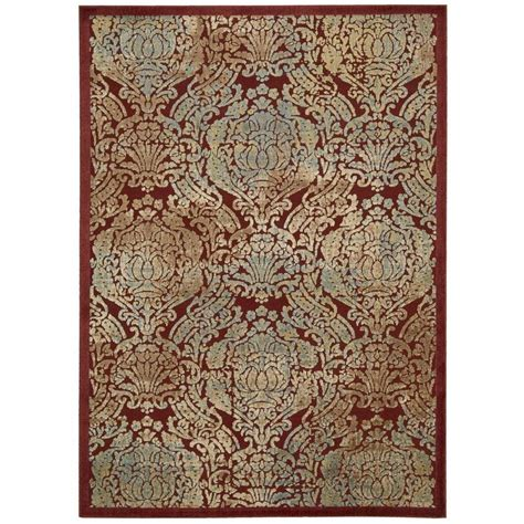 overstock area rugs nourison overstock graphic illusions 3 ft 6 in x 5 ft 6 in area rug 221612 the home depot