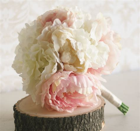 peonies bouquet silk bride bouquet peony flowers peonies shabby by
