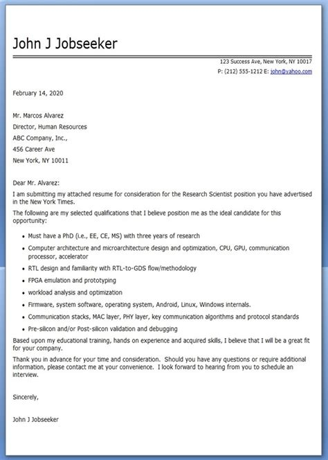 Research Motivation Letter Cover Letter Sle Research