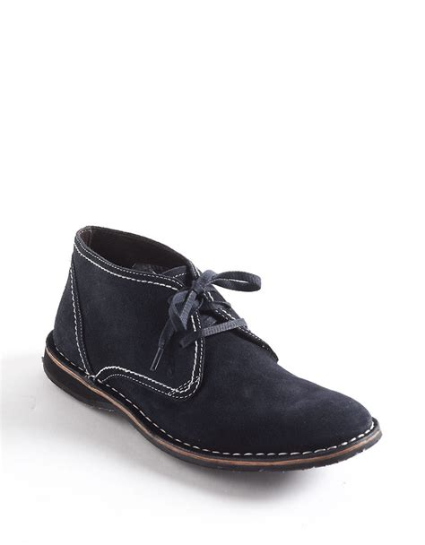 varvatos suede chukka boots in blue for