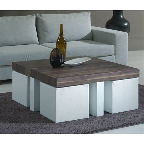Coffee Table With Stools Underneath Coffee Table With Stools This Idea For Stools Tucked A Coffee Table More Seating