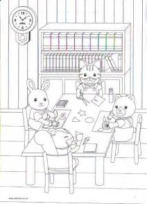 calico critters coloring pages calico critters coloring pages sylvanian families