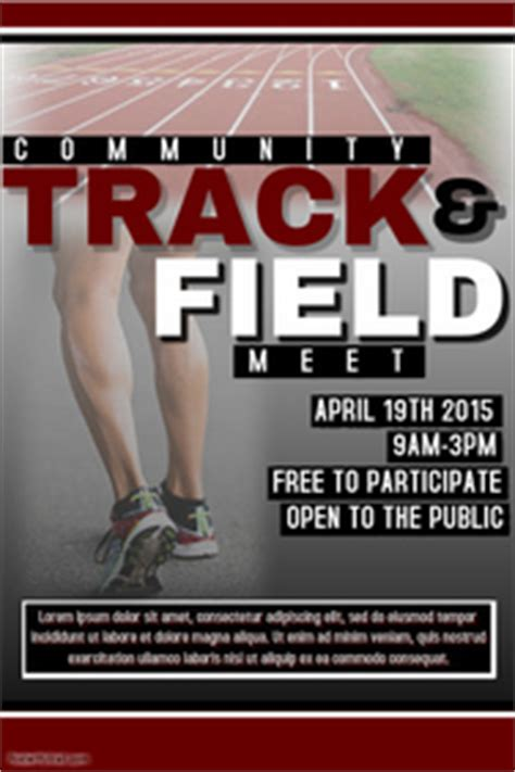 track meet relay card template sports poster templates postermywall
