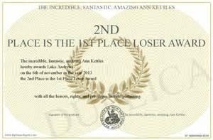 Loser Certificate Template by Loser Certificate Template Ebook Database