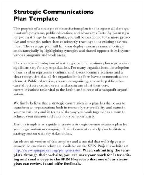 strategic communications plan template free strategic plan 45 free word pdf ppt format