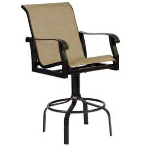 Patio Bar Chairs Cortland Sling Swivel Bar Stool By Woodard Patio Furniture Family Leisure