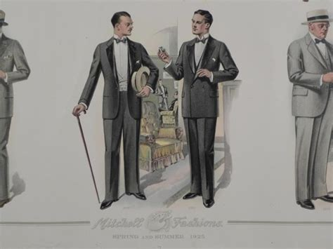 4 vintage advertising prints mens fashion ny 1920s