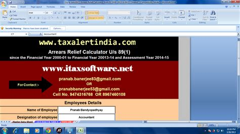 relief under section 89 of income tax act 89 1 arrears relief calculator for financial year 2013 14
