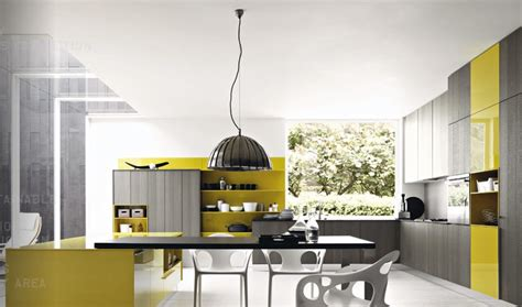 Yellow And Grey Kitchen by Grey Mustard Yellow Modern Kitchen Interior Design Ideas
