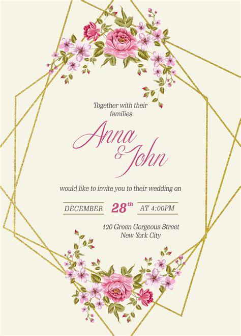wedding invitation card template mockup psd designbolts