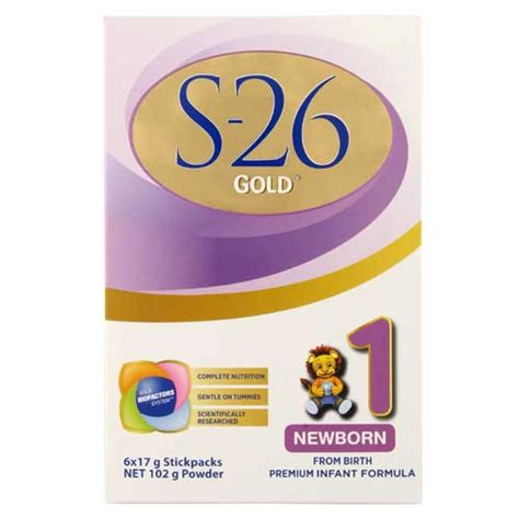 S26 New Born buy s26 gold newborn starter from birth formula step 1 stick pack stick sachets 6pk at