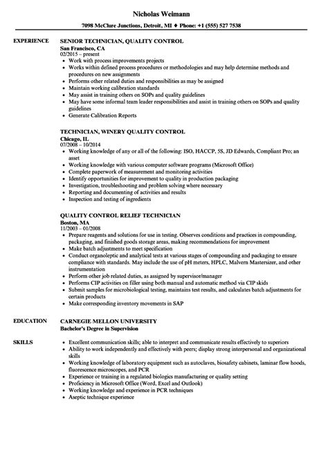 controls technician description 22 cover letters