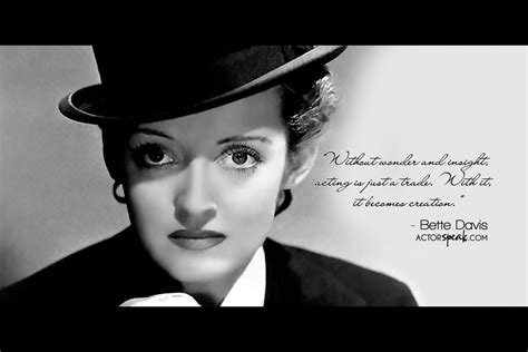 bette davis quotes wallpaper bette davis quote on acting with photo