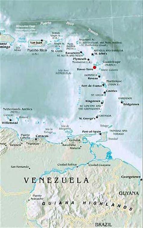 barbados maps including outline and topographical maps guadeloupe maps including outline and topographical maps